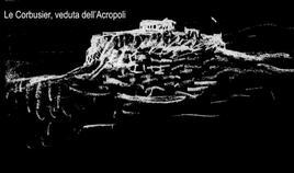 Schizzo di Le Corbusier dell'Acropoli di Atene