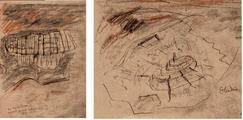 Visione dall'aereo, schizzi di Le Corbusier