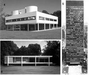 Fig. 4.4: Le Corbusier, Villa Savoie, Poissy; 4.5: Mies van der Rohe, Casa Farnsworth, Plano, Illinois; 4.6: Miles van der Rohe, Seagram Building, New York