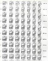 Klein, schemi distributivi alloggio tipo