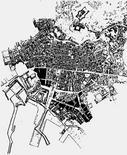 Sovrapposizione tra la pianta del Risanamento e la cartografia del 1980