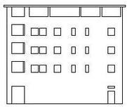 Edificio 6: prospetto