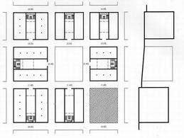 Edifici a blocco con cortile che definiscono gli isolati intorno al vuoto di Largo Baracche