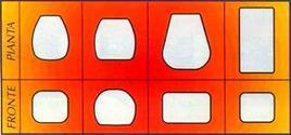Diverse forme di stampi per la produzione di prosciutto cotto.