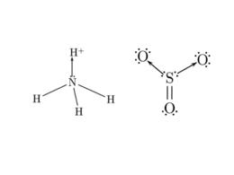 Esempi di legame dativo. Ione ammonio (sinistra) anidride solforica (destra).
