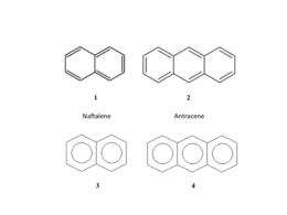 Struttura dei primi idrocarburi aromatici policiclici