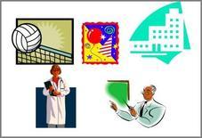 Servizi sportivi, servizi ricreativi, servizi amministrativi, sanità, scuola.