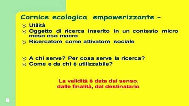Arcidiacono, C. (2004/2005). Laboratorio di Psicologia di Comunità. Università Cattolica del Sacro Cuore, Milano.