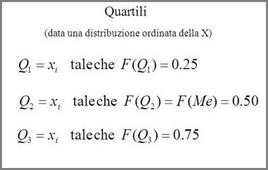 Formulazione dei quartili