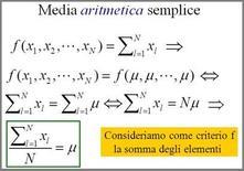 Definizione della media aritmetica semplice