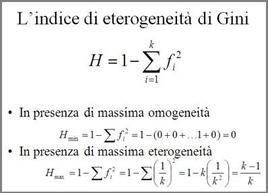 Formulazione dell'indice di eterogeneità