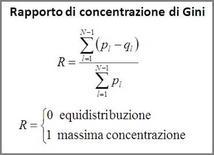 Formulazione del rapporto di concentrazione