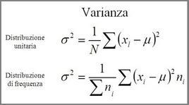 Formulazione della varianza