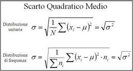 Formulazione dello Scarto Quadratico Medio