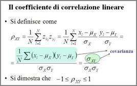 Formulazione dell'indice di correlazione lineare