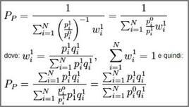 Formulazione dell'indice dei prezzi di Paasche