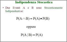 Definizione di eventi indipendenti