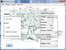Interfaccia grafica del software Tree Harvest.