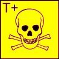 The hazard symbol for highly toxic substances according to directive 67/548/EWG by the European Chemicals Bureau