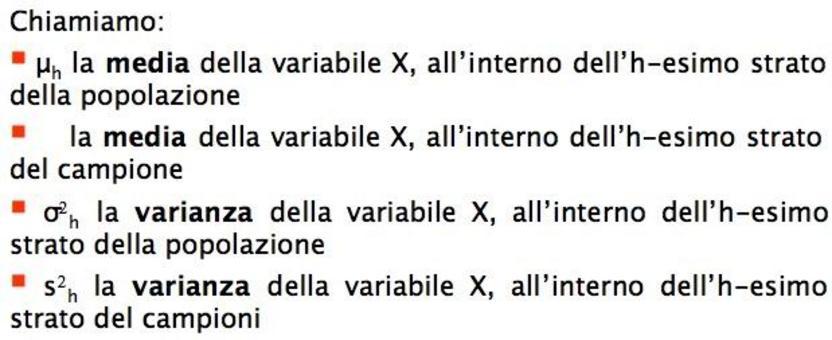 STIMA con ALLOCAZIONE OTTIMA della MEDIA μ della variabile X