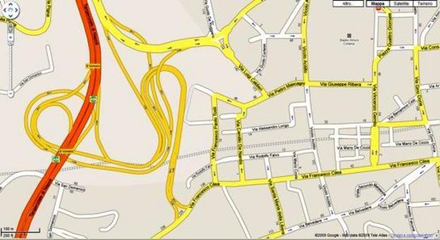 Mappe vettoriali Google MAPS. Fonte:  Google Map