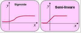 Trasformazioni Sigmoide e Semi-Lineare.