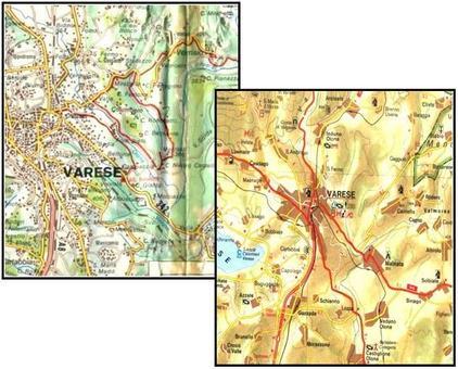 Esempio di Cartografia tradizionale. Fonte:  Gogle maps