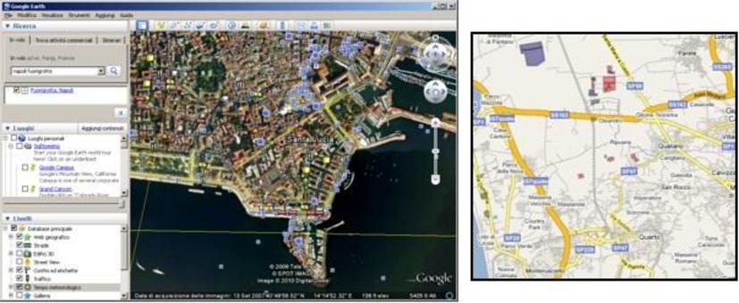 Esempi di mappa Georeferenziata. Fonte : Google Earth