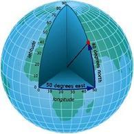 Latitutine e Longitudine sulla Terra. Fonte:  Arcgisonline