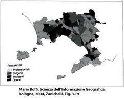 Mappa Categoriale. Fonte: Mario Boffi, Scienza dell'Informazione Geografica, Bologna, 2004, Zanichelli. Fig. 3.19