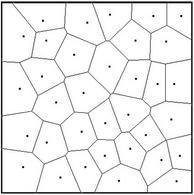 Ripartizione di un territorio mediante il modello di Voronoi.