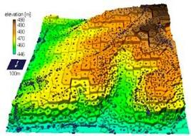 Applicazione del modello di Voronoi ad un territorio. Fonte: Surface Processes Group