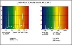 Spettri di emissione di sorgenti fluorescenti