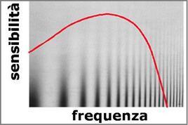 Relazione tra sensibilità e frequenza