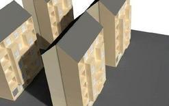 Ombre portate su facciate di edifici (dialux)