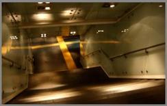 Illuminazione non uniforme sulla rampa di scale