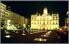 Illuminazione della Place de Terraux, Lione