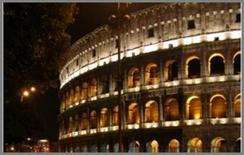 Una discutibile illuminazione del Colosseo