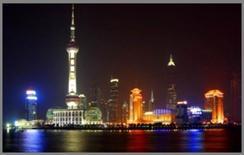 Lo skyline di Shangai