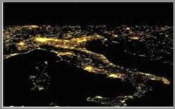 Inquinamento luminoso in Italia