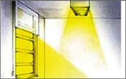 Flusso attenuato in presenza di luce naturale