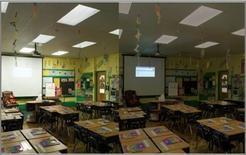 Diverse scene luce per diverse esigenze in un'aula (LUTRON)
