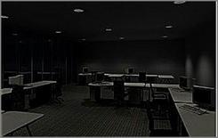 Ufficio: illuminazione notturna (ERCO)