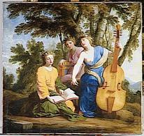 E. Le Sueur, Melpomene, Erato e Clio. Immagine da: Governo francese