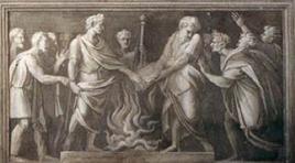 Augusto impedisce la distruzione dell'Eneide