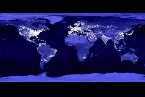 Inquinamento luminoso notturno. Fonte: Institute of Astronomy, University of Cambridge