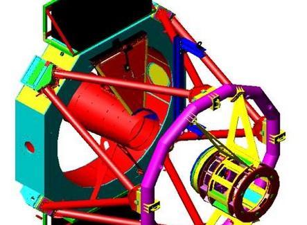 Sistema per montaggio M2 nella cella al telescopio