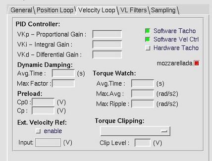 Software di controllo asse