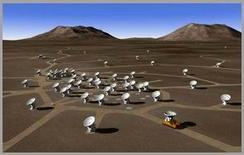 Simulazione del sito di Alma con varie antenne installate
