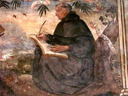 Guglielmo d'Occam. Refettorio S. Lorenzo Maggiore – Napoli.
